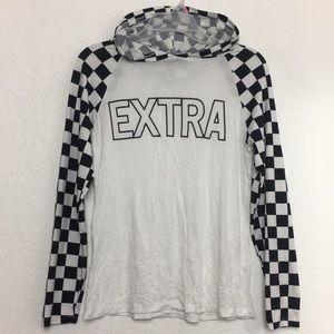 ✅Women Checkered EXTRA lightweight hoodie M